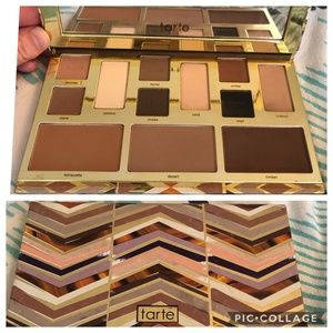 Lightly swatched Tarte Clay Play Face Palette